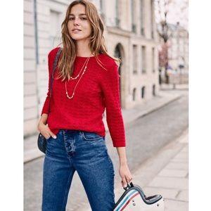 BODEN Amelie Sweater Red